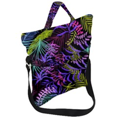 Leaves Nature Fold Over Handle Tote Bag by Jojostore