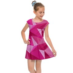 Pattern Halftone Geometric 3d Kids  Cap Sleeve Dress