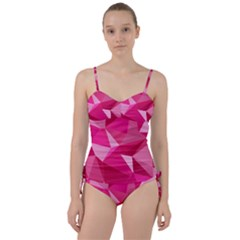 Pattern Halftone Geometric 3d Sweetheart Tankini Set