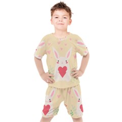 Rabbit Heart Illustration Kid s Set