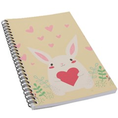Rabbit Heart Illustration 5 5  X 8 5  Notebook by Jojostore