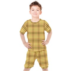 Plaid Seamless Gold Butterscotch Kid s Set