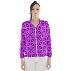 Purple Magenta Wallpaper Seamless Pattern Windbreaker (women) by Jojostore