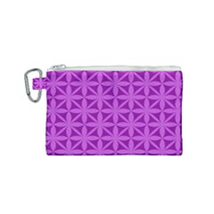 Purple Magenta Wallpaper Seamless Pattern Canvas Cosmetic Bag (small)