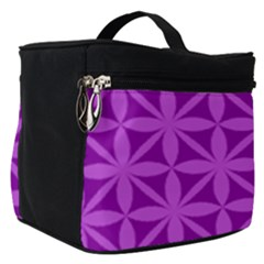 Purple Magenta Wallpaper Seamless Pattern Make Up Travel Bag (small)