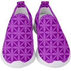 Purple Magenta Wallpaper Seamless Pattern Kids  Slip On Sneakers by Jojostore