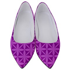 Purple Magenta Wallpaper Seamless Pattern Women s Low Heels