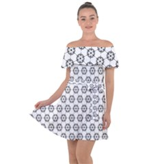 Seamless Star Off Shoulder Velour Dress by Jojostore