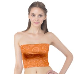 Orange Ellipse Wallpaper Pattern Tube Top by Jojostore
