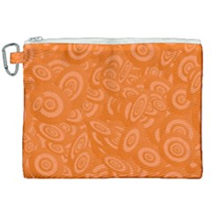 Orange Ellipse Wallpaper Pattern Canvas Cosmetic Bag (xxl) by Jojostore