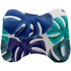 Leaves Tropical Blue Green Nature Head Support Cushion by Alisyart