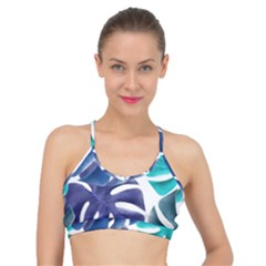 Leaves Tropical Blue Green Nature Basic Training Sports Bra by Alisyart