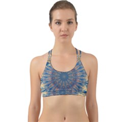 Kaleidoscope Mandala Back Web Sports Bra by Alisyart