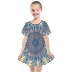 Kaleidoscope Mandala Kids  Smock Dress by Alisyart