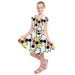Pattern Circle Texture Kids  Short Sleeve Dress by Alisyart