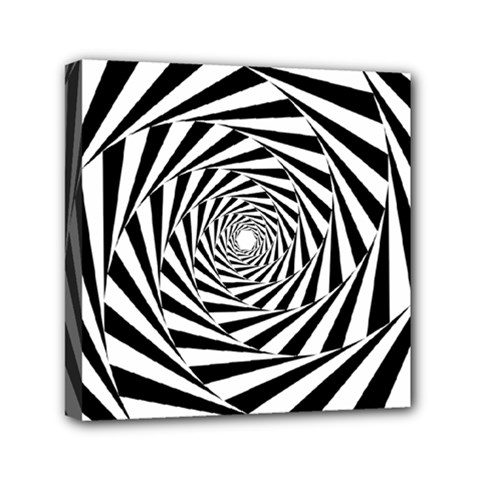 Pattern Texture Spiral Mini Canvas 6  X 6  (stretched) by Alisyart