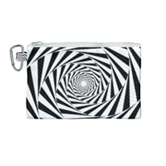 Pattern Texture Spiral Canvas Cosmetic Bag (medium)