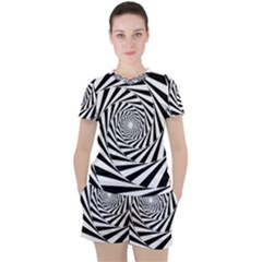 Pattern Texture Spiral Women s Tee And Shorts Set by Alisyart