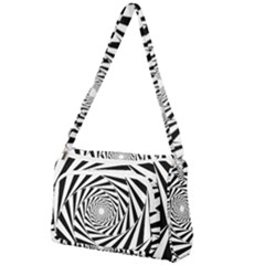 Pattern Texture Spiral Front Pocket Crossbody Bag
