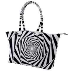 Pattern Texture Spiral Canvas Shoulder Bag