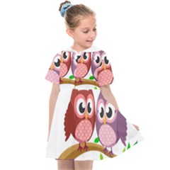 Owl Cartoon Bird Kids  Sailor Dress
