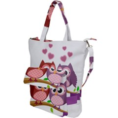 Owl Cartoon Bird Shoulder Tote Bag by Alisyart