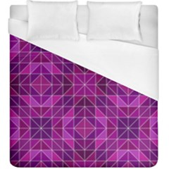 Purple Triangle Pattern Duvet Cover (king Size) by Alisyart