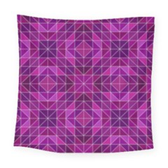 Purple Triangle Pattern Square Tapestry (large)
