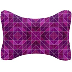 Purple Triangle Pattern Seat Head Rest Cushion by Alisyart