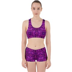 Purple Triangle Pattern Work It Out Gym Set by Alisyart