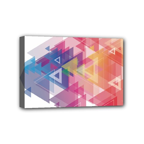 Science And Technology Triangle Mini Canvas 6  X 4  (stretched)