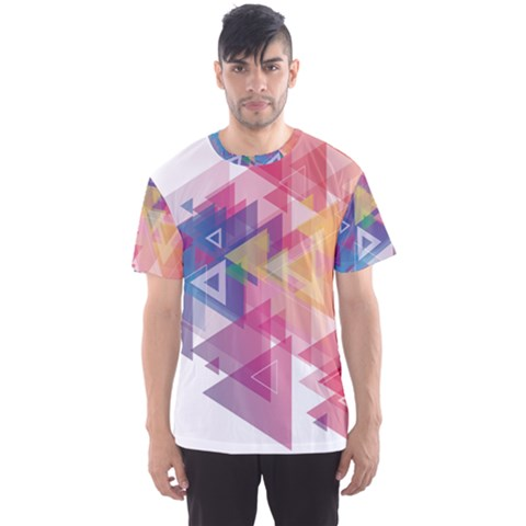 Science And Technology Triangle Men s Sports Mesh Tee by Alisyart