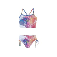 Science And Technology Triangle Girls  Tankini Swimsuit