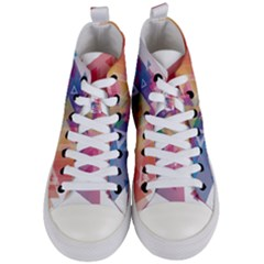 Science And Technology Triangle Women s Mid Top Canvas Sneakers