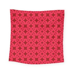 Red Magenta Wallpaper Seamless Pattern Square Tapestry (small)