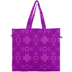 Magenta Mosaic Pattern Triangle Canvas Travel Bag by Pakrebo