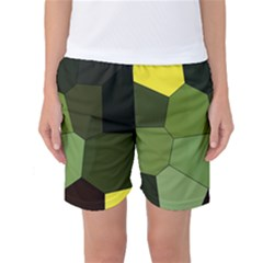 Mosaic Structure Background Tile Women s Basketball Shorts