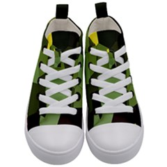 Mosaic Structure Background Tile Kids  Mid Top Canvas Sneakers