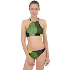 Mosaic Structure Background Tile Racer Front Bikini Set