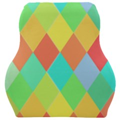 Low Poly Triangles Car Seat Velour Cushion