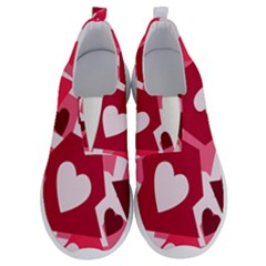 Pink Hearts Pattern Love Shape No Lace Lightweight Shoes by Pakrebo