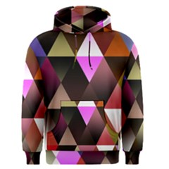 Abstract Geometric Triangles Shapes Men s Pullover Hoodie by Pakrebo