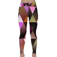 Abstract Geometric Triangles Shapes Classic Yoga Leggings