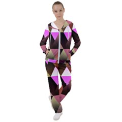 Abstract Geometric Triangles Shapes Women s Tracksuit
