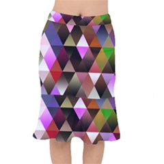 Abstract Geometric Triangles Shapes Mermaid Skirt