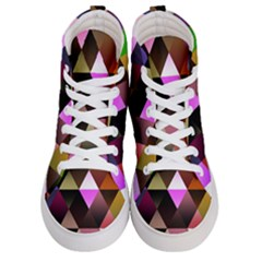 Abstract Geometric Triangles Shapes Women s Hi Top Skate Sneakers