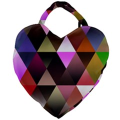 Abstract Geometric Triangles Shapes Giant Heart Shaped Tote