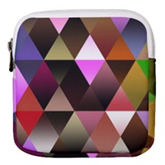 Abstract Geometric Triangles Shapes Mini Square Pouch