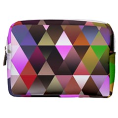 Abstract Geometric Triangles Shapes Make Up Pouch (medium)