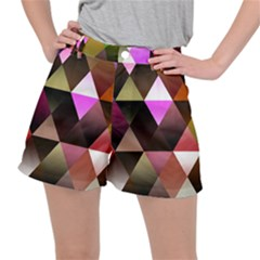 Abstract Geometric Triangles Shapes Stretch Ripstop Shorts